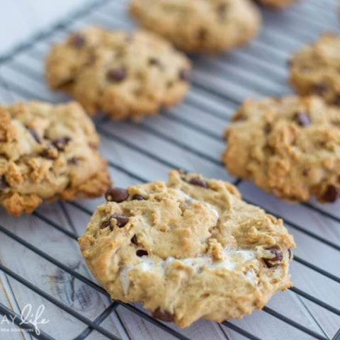 Chewy Chocolate Chip S'mores Cookies Recipe