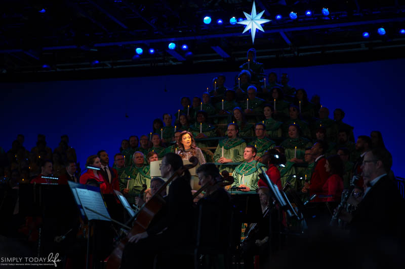 Actors Performing at Epcot's Candlelight Processional
