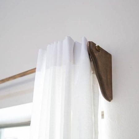 DIY Farmhouse Extra Long Curtain Rods
