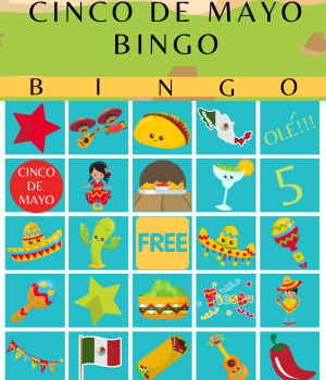 Cinco de mayo Bingo Cards