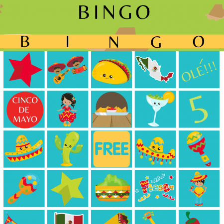 Cinco de mayo Bingo Cards