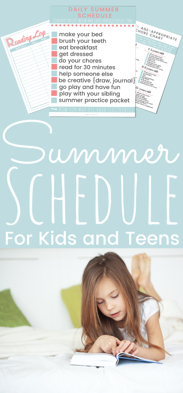 Daily Summer Schedule For Kids